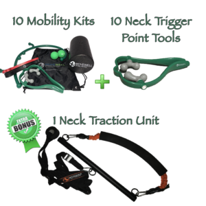 MoveNow Starter Kit Includes Neck Traction Unit Neck Trigger Point Tools and Mobility Kits