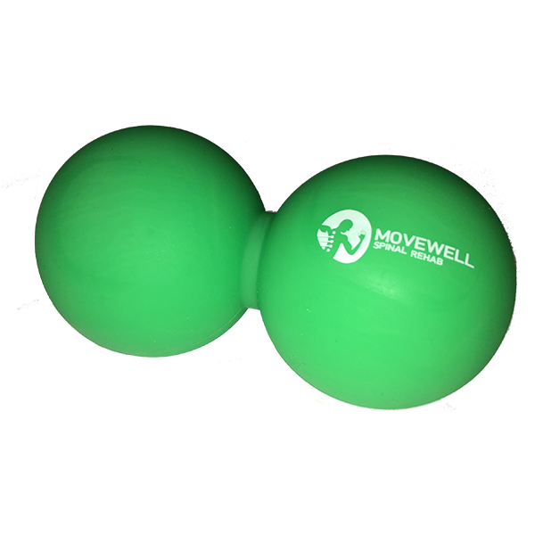 MoveWell Double Lacrosse Ball for Corrective Exercise and Functional Movement